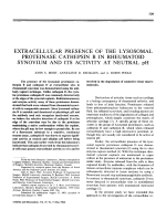 Extracellular presence of the lysosomal proteinase cathepsin B in rheumatoid synovium and its activity at neutral pH.