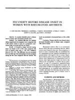 Fecundity before disease onset in women with rheumatoid arthritis.