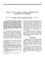 Free fatty acids in the pancreatitic arthritis syndrome.