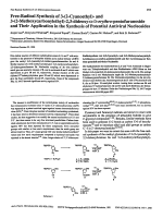 Free-radical synthesis of 3-2-cyanoethyl- and 3-2-methoxycarbonylethyl-23-dideoxy-╨Ю┬▒-D-Erythro-pentofuranoside and their application in the synthesis of potential antiviral nucleosides.