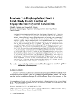 Fructose-16-bisphosphatase from a cold-hardy insectControl of cryoprotectant glycerol catabolism.
