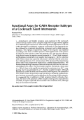 Functional assay for GABA receptor subtypes of a cockroach giant interneuron.