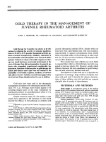 Gold therapy in the management of juvenile rheumatoid arthritis.