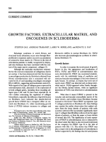 Growth factors extracellular matrix and oncogenes in scleroderma.