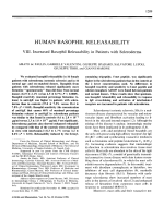 Human Basophil Releasability. VIII. Increased Basophil Releasability in Patients with Scleroderma