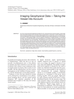 Imaging geophysical data В Эtaking the viewer into account.