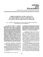 Immunomodulatory effects of treatment with naproxen in patients with rheumatic disease.