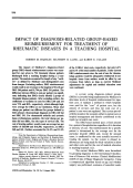 Impact of diagnosis-related group-based reimbursement for treatment of rheumatic diseases in a teaching hospital.