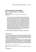 In vitro rearing of parasitoidsRole of host factors in nutrition.