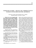 Increase in okm1 + granular lymphocytes in patients with rheumatoid arthritis.