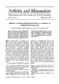 Influence of human rheumatoid factor on numbers of antibody-producing cells.