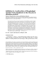 Inhibition by azadirachtin of phospholipid transfer from lipophorin to the oocytes in Rhodnius prolixus.