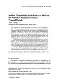 Inositol phospholipid hydrolysis may mediate the action of proctolin on insect visceral muscle.