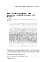 Insect detoxifying enzymesTheir importance in pesticide synergism and resistance.