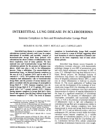 Interstitial lung disease in scleroderma. Immune complexes in sera and bronchoalveolar lavage fluid