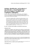 Isolation identification and synthesis of Mas-MG-MT I a novel peptide from the larval midgut of Manduca sexta lepidopteraSphingidae.