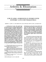 Low plasma androgens in women with systemic lupus erythematosus.