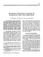 Magnetic resonance imaging of sacroiliac joint inflammation.