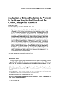 Modulation of tension production by proctolin in the dorsal longitudinal muscles of the cricket  Teleogryllus oceanicus.