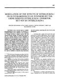 Modulation of the effects of interleukin-1 on glycosaminoglycan synthesis by the urine-derived interleukin-1 inhibitor but not by interleukin-6.