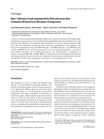 New 1-Benzyl-4-hydroxypiperidine Derivatives as Non-imidazole Histamine H3 Receptor Antagonists.
