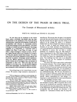 On the design of the phase iii drug trial.