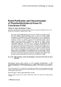 Partial purification and characterization of phenobarbital-induced house fly cytochrome P-450.