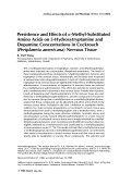 Persistence and effects of ╬▒-methyl-substituted amino acids on 5-hydroxytryptamine and dopamine concentrations in cockroach (Periplaneta americana) nervous tissue.