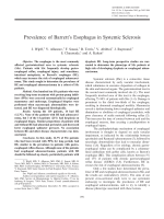 Prevalence of Barrett's esophagus in systemic sclerosis.