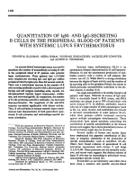 Quantitation of IgM- and IgG-secreting B cells in the peripheral blood of patients with systemic lupus erythematosus.