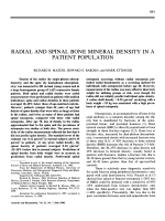 Radial and spinal bone mineral density in a patient population.