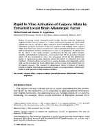 Rapid in vitro activation of corpora allata by extracted locust brain allatotropic factor.