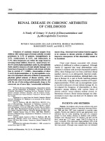 Renal disease in chronic arthritis of childhood. A study of urinary N-acetyl- -glucosaminidase and  2-microglobulin excretion
