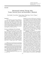 Rheumatoid arthritis therapy after tumor necrosis factor and interleukin-1 blockade.