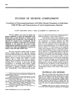 Studies of murine complement.