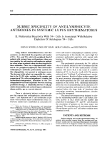 Subset specificity of antilymphocyte antibodies in systemic lupus erythematosus.