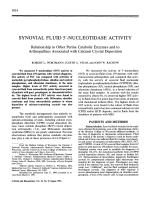 Synovial fluid 5 В╨Ж-nucleotidase activity. Relationship to other purine catabolic enzymes and to arthropathies associated with calcium crystal deposition