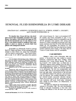 Synovial fluid eosinophilia in lyme disease.