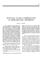 Synovial fluid lymphocytes in rheumatoid arthritis.