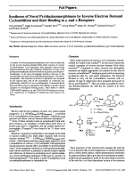 Syntheses of Novel Pyridazinomorphinans by Inverse Electron Demand Cycloaddition and their Binding to ╨ЮU and ╨Ю╤Ф Receptors.
