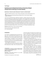 Synthesis and Antibacterial Activity of Quinolone-Based Compounds Containing a Coumarin Moiety.