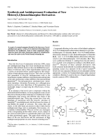 Synthesis and Antidepressant Evaluation of New Hetero[21]benzothiazepine Derivatives.