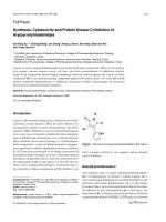 Synthesis Cytotoxicity and Protein Kinase C Inhibition of Arylpyrrolylmaleimides.