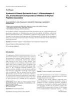 Synthesis of Dimeric Quinazolin-2-one 14-Benzodiazepin-2-one and Isoalloxazine Compounds as Inhibitors of Amyloid Peptides Association.