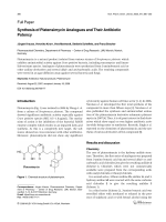 Synthesis of Platensimycin Analogues and Their Antibiotic Potency.