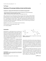 Synthesis of Tyrosinase Inhibitory Kojic Acid Derivative.