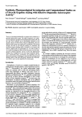 Synthesis Pharmacological Investigation and Computational Studies on a Tricyclic Ergoline Analog with Selective Dopamine Autoreceptor Activity.