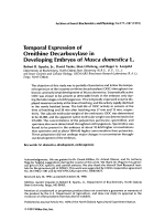 Temporal expression of ornithine decarboxylase in developing embryos of Musca domestica.