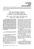 The 1982 revised criteria for the classification of systemic lupus erythematosus.