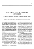 The costs of rheumatoid arthritis. a patient-oriented study of chronic disease costs
